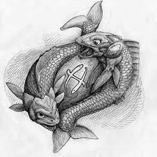 green pisces and aries tattoos design real photo pictures