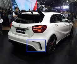 mercedes amg a250 aliexpress com buy 2016 a45 rear vents intake cover amg style