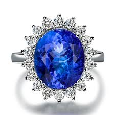 tanzanite blue rings images 5carat blue gemstone 18k white gold blue tanzanite ring for women jpg