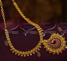 fashion jewelry necklace sets images Nl10576 south indian designer low price fashion jewellery necklace JPG