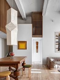 an eclectic apartment inspired by japanese storage chests in