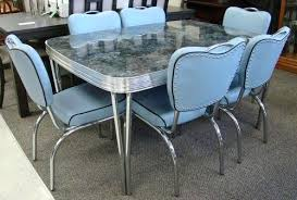 1950s chrome kitchen table and chairs 1950s chrome kitchen table and chairs vintage style dinette dinette