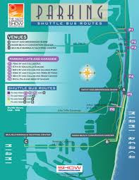 South Beach Florida Map by Parking U0026 Transportation At Yacht U0026 Brokerage Show In Miami Beach 2013