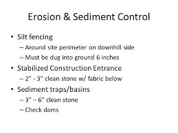 Excavation Estimating by Estimating Site Work Major Components Erosion Sediment