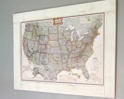 map usa framed push pin map etsy