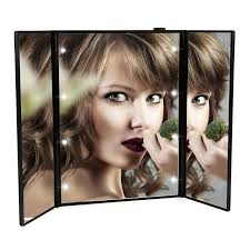 professional makeup lighting portable portable led touch screen vanity mirror folding table 8 led lights
