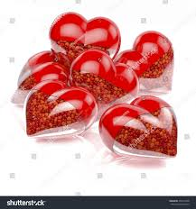 Small Tiny Group Pool Red Heart Shaped Pills Stock Illustration 204713848