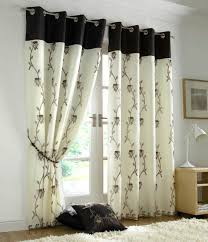 Chocolate Curtains Eyelet Design Tahiti Eyelet Fully Lined Voile Curtains Chocolate