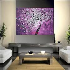 Living Room Art Canvas by Aliexpress Com Buy Abstract Art Tree Oil Painting High Quality