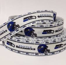 seahawk ribbon seattle seahawks printed ribbon or bow by theribbonobsession