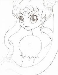 sailor moon pen sketch by starlitknight on deviantart