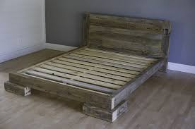 Reclaimed Platform Bed - reclaimed wood platform bed made of pine salvaged from minnesota