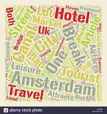 cheap weekend breaks city breaks to amsterdam text background