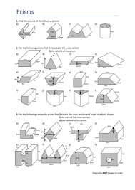 volumes of prisms worksheet by tristanjones teaching resources