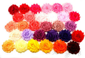 shabby flowers shabby flowers 2 5 inches solid pinks purples and yellows