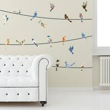 watercolor birds on a wire bird wall decals wallsneedlove you may also like