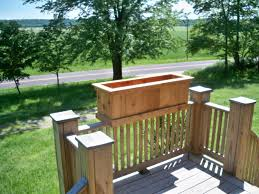 Backyard Planter Box Ideas Gorgeous Deck Planters In Small Space Laluz Nyc Home Design