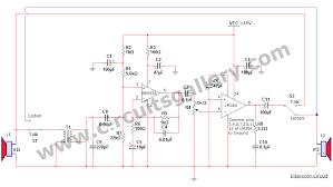 simple two way communication intercom circuit schematic diagram