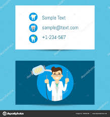 professional business card for dentists u2014 stock vector