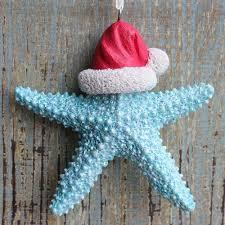 sale starfish santa ornament coastal decor california