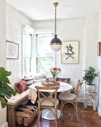 cozy kitchen nook rustic decor corner bench kilim pillows cozy