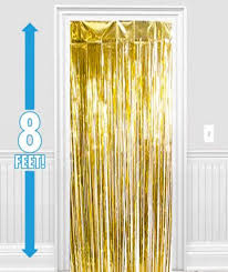 Gold Metallic Curtains Gold Metallic Foil Curtain Foil Decorations Just Supplies Nz