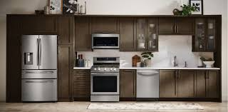 what color appliances go with black cabinets samsung at lowe s refrigerators washers dryers more