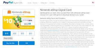 eshop gift cards united states nintendo eshop digital cards via paypal digital