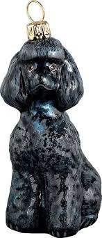 poodle black ornament