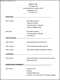 Pharmacy Resume Examples by Resume Template Pharmacist Resume For Your Job Application