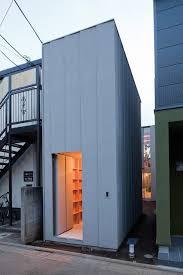 ultra minimalist tall narrow modern japanese house design with