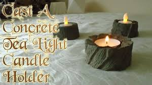 can you use tea light candles without holders cast a concrete tea light candle holder youtube
