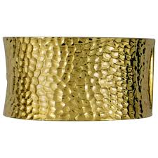 cuff bracelet images Large hammered gold cuff bracelet for sale at 1stdibs jpg