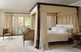 superb twin wood canopy bed decorating ideas gallery in bedroom