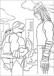 casey jones talking ninja turtle coloring free