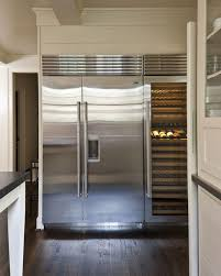 build your own refrigerated wine cabinet wine cooler next to refrigerator transitional kitchen