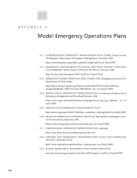 Report Essay Format Appendix H Model Emergency Operations Plans A Guide To