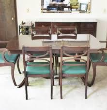 Ebth Chair Mid Century Modern Dania Dining Table And Six Chairs Ebth