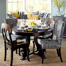 carmilla blue damask dining chair with espresso wood pier 1 imports