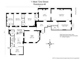500 Square Feet Floor Plan 1 West 72nd Street Apt 46 Upper West Side Ny 10023 Warburg