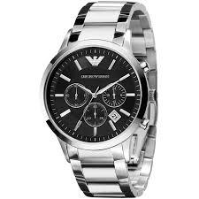 armani watches bracelet images Emporio armani ar2434 men 39 s chronograph date bracelet strap watch
