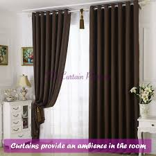 Chocolate Curtains Eyelet Blackout Coffee Chocolate Brown Bedroom Door Drape Sheer Net