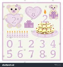 birthday cake candle vector cute baby stock vector 274172627
