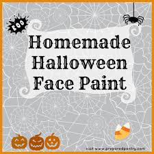 Homemade Halloween Makeup Recipes by Homemade Halloween Face Paint Preparedpantry Recipe By Nancy U0027s