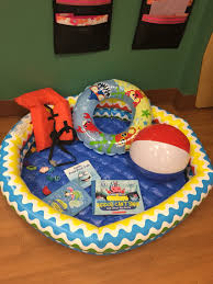 made this corner for our water safety ocean animal week our