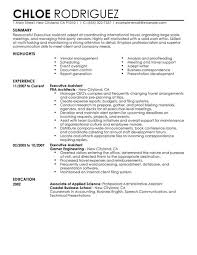Examples Of Strong Resumes by Best Executive Assistant Resume Example Livecareer