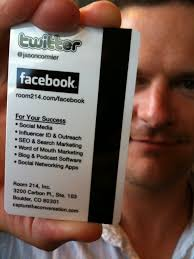 Social Network Business Card Should You Include Your Twitter Username On Your Business Card If