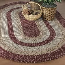 Braided Rugs Going Country Braided Rugs Burlap Curtains And Other Design