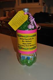 easter gift for the teacher 2 liter bottle stuffed with all kinds