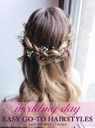 3 easy go to wedding hairstyles paperlust